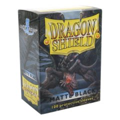 Dragon Shield: Standard Sleeves - Matte Black (100ct)