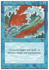 Blue Elemental Blast - 4th Edition - Black Border