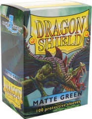 Dragon Shield: Standard Sleeves - Matte Green (100ct)