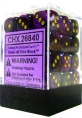 36 Black Grey / Green Gemini 12mm D6 Dice Block - CHX26840