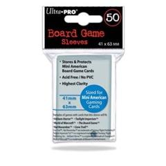 41mm X 63mm Mini American Board Game Sleeves 50ct