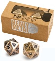 Heavy Metal D20 Dice Set