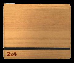 8 Pocket Binder (2x4) Wood Grain