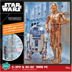 Photomosaic - Star Wars C-3PO and R2-D2 Puzzle (1000 pieces)