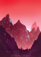 Unhinged Mountain A1 Art Print