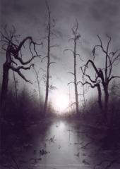 Unhinged Swamp A1 Art Print
