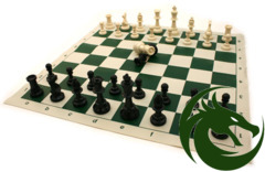 Pro Chess Tournament Men & Roll-Up Mat