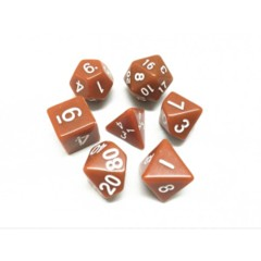 Oscar's Enchanted Opaque Brown Polyhedral Dice Set (7)
