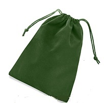 Velour Dice Bag Large Green