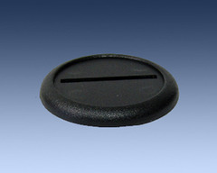 Black Plastic Bases 40mm (5 Pack)