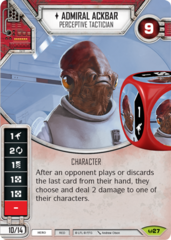 Admiral Ackbar - Perceptive Tactician (Sold with matching Die)