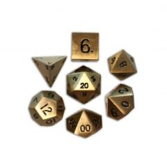 Metal Bronze Dragon's Scale Polyhedral Dice Set (7)