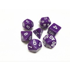 Oscar's Enchanted Opaque Purple Polyhedral Dice Set (7)