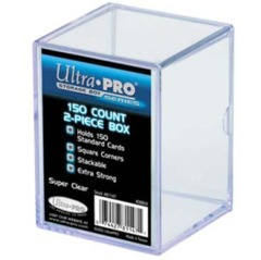 2-Piece 150 Count Clear Card Stor-Safe Storage Box