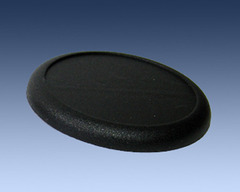 Black Plastic Bases 50mm (3 pack)
