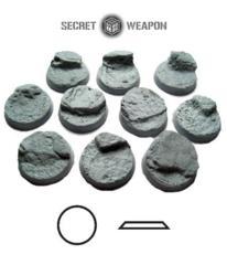 Desert Mesa 25mm Round Beveled Bases (10)