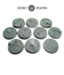 Desert Wasteland 25mm Round Beveled Bases (10)