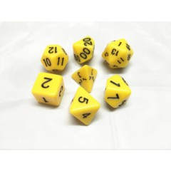 Oscar's Enchanted Opaque Yellow Polyhedral Dice Set (7)