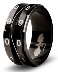 Clicking Counter Ring Black - 10