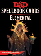 Dungeons and Dragons RPG 5th Edition: Spellbook Cards - Elemental Deck