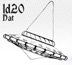 1d20 Hat - Wizardstone with Mystic Runes