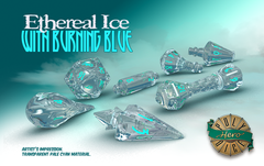 PolyHero Wizard Set - Ethereal ice with Burning Blue