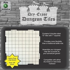 Dry Erase Dungeon Tiles - Combo Pack of Nine 10' Interlocking Tiles
