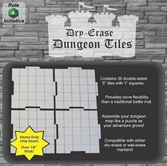 Dry Erase Dungeon Tiles - Combo Pack of Thirty Six 5' Interlocking Tiles
