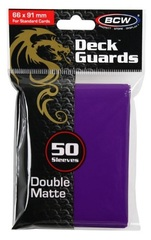 BCW Double Matte Sleeves Purple
