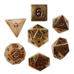 Metal Dead Man's Gold Polyhedral Dice Set (7)
