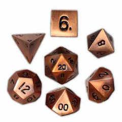 Metal Gnomish Copper Polyhedral Dice Set (7)