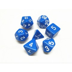 Oscar's Enchanted Opaque Blue Polyhedral Dice Set (7)