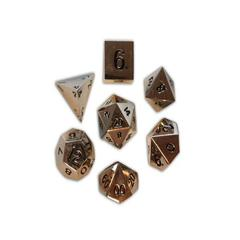 Metal Polyhedral Dice Set (7) - Chainmail Silver