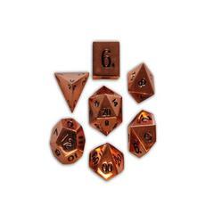 Metal Polyhedral Dice Set (7) - Copper Still