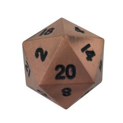Metal Single Alloy d20 (1) - Gnomish Copper