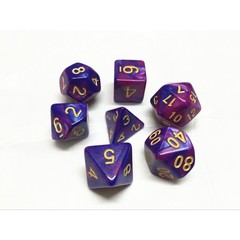 Oscar's Enchanted Blend Purple/Blue Polyhedral Dice Set (7)