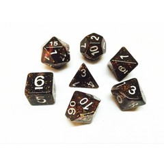 Oscar's Enchanted Glitter Pink Polyhedral Dice Set (7)