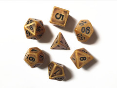 Oscar's Enchanted Ancient Gold Polyhedral Dice Set (7)