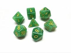 Oscar's Enchanted Jade Polyhedral Dice Set (7)