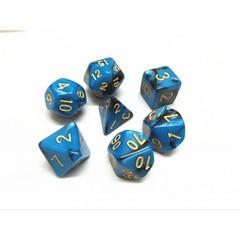 Oscar's Enchanted Blend Blue/Black Polyhedral Dice Set (7)