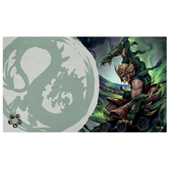 Legend of the Five Rings: Master of the High House of Light Playmat (Dragon Clan)