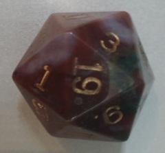 Dwarven Stone Bloodstone 35mm d20 (1)