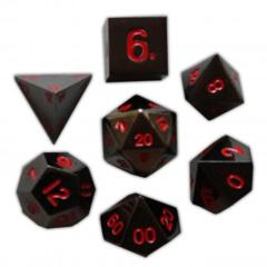 Metal Nightmare Black Polyhedral Dice Set (7)