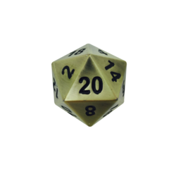 Metal Boulder Bronze Dragon's Scale 45mm d20 (1)