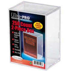 2-Piece 250 Count Clear Card Stor-Safe Storage Box