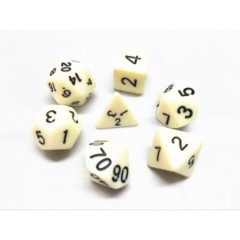 Oscar's Enchanted Opaque Ivory Polyhedral Dice Set (7)