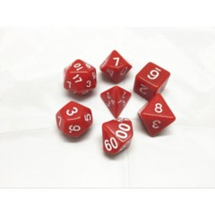 Oscar's Enchanted Opaque Red Polyhedral Dice Set (7)