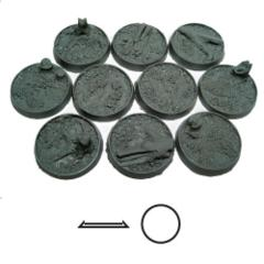 Blasted Wetlands 25mm Round Beveled Bases (10)