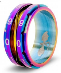 Clicking Counter Ring Rainbow - 12