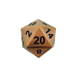 Metal Boulder Gnomish Copper 45mm d20 (1)